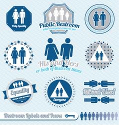 Bathroom restroom labels vector
