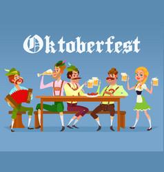 cartoon of funny men drinking vector image