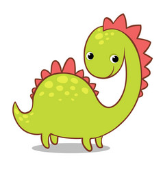 cute smiling dinosaur on a white background vector image