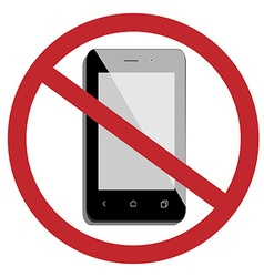 No mobile phone vector image vector image