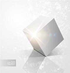 Shiny cube vector image