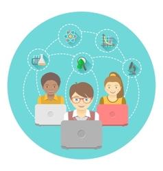 Online Education for Kids vector image