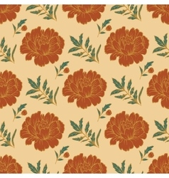Ornate floral seamless background with flowers vector
