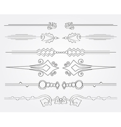 decorative page borders set vector image vector image