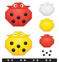 Origami ladybug creation kit vector image vector image