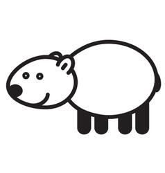 Cute animal polar bear - vector image
