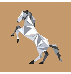 Paper origami horse standing vector image