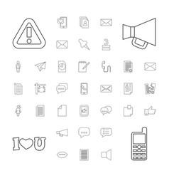 37 message icons vector