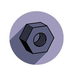 3d industrial nut for use with bolts manufacturing vector