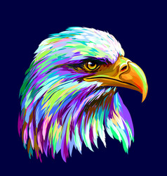 abstract multi-colored portrait a eagle on a d vector image