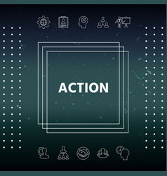 Action button symbol vector