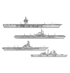 aircraft carriers vector image