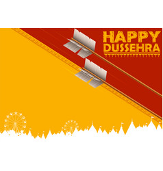 arrow of rama in happy dussehra festival of india vector image