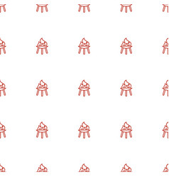 Bbq icon pattern seamless white background vector