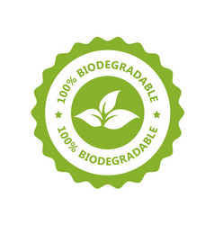 Biodegradable plastic free icon - compostable vector
