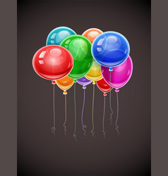 Birthday balloons soaring vector