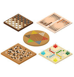 Board games sign 3d icon set isometric view vector