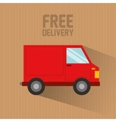 car delivery service icon vector image