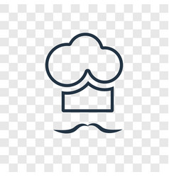 chef concept linear icon isolated on transparent vector image