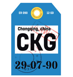 Chongqing airline tag vector
