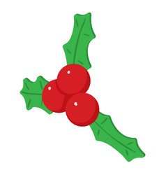 christmas berry icon isometric 3d style vector image
