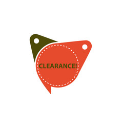 clearance tag template isolated vector image