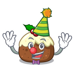 clown fruit cake mascot cartoon vector image