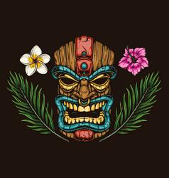 Colorful hawaiian elements vintage concept vector