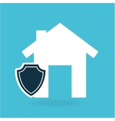 concept insurance house money security design vector image