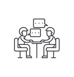Consulting line icon concept consulting vector