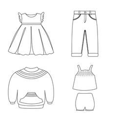 design of wear and child symbol collection vector image