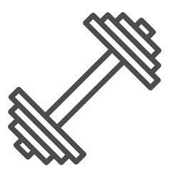 Dumbbell line icon weights vector