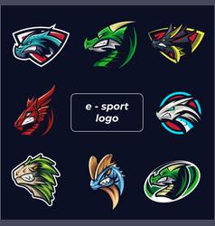 e-sport logo set vector image