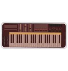 Electronic piano keyboard icon vector