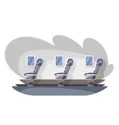 empty interior plane airline transportation vector image