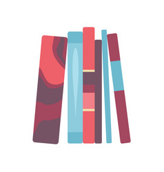 four front book in flat design style vector image