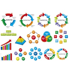 Graphic business diagram collection vector