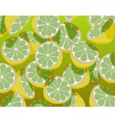 Green lemons vector