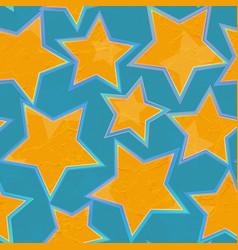 grunge star geometric seamless pattern vector image