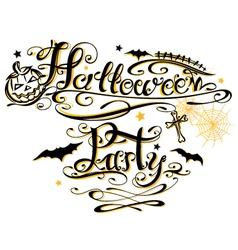 Halloween Party lettering vector