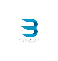 Initial letter b logo design is elegant vector