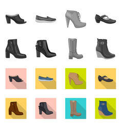 isolated object of footwear and woman icon vector image