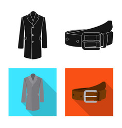 Isolated object of man and clothing symbol vector