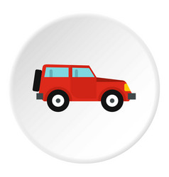 jeep icon circle vector image