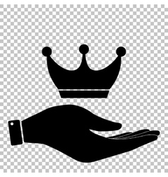 King crown sign Flat style icon vector image