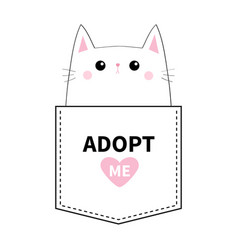 kitten sitting in the pocket adopt me pink heart vector image