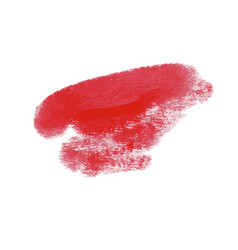 lipstick grunge brush stroke set vector image