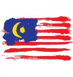 Malaysia grunge flag vector