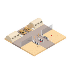 military isometric composition vector image