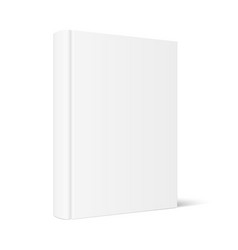 mock up standing book with white blank cover vector image